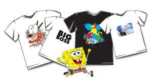 Методы печати изображений и надписей на футболках