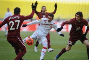 «Рубин» неудачно сыграл первый матч против «Олимпиакоса» в Лиге Европы