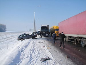 В Беларуси столкнулись 23 автомобиля