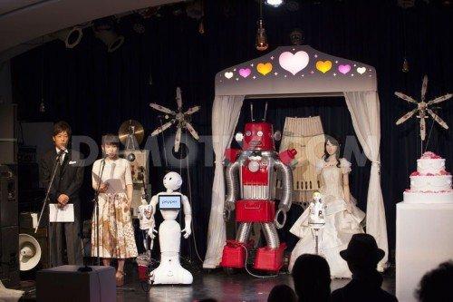 ВЯпонии поженили иобвенчали 2-х роботов