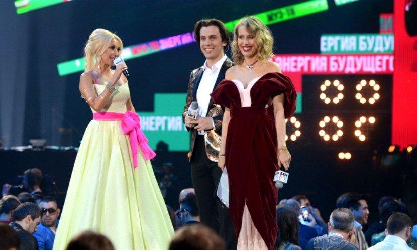 Беременная Собчак напремии «Муз-ТВ» оскорбила Леру Кудрявцеву