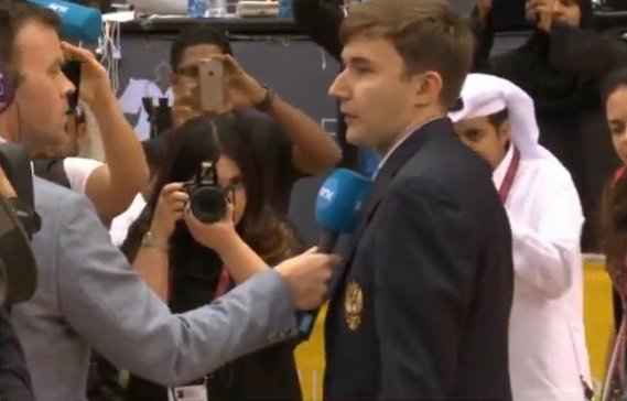 Карякин завоевал титул чемпиона мира поблицу натурнире вДохе