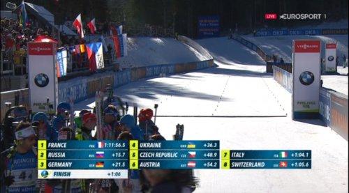 Шипулин «вытащил» сборную России на 2-е место в эстафете в  Поклюке