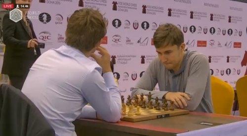 Карякин победил Карлсена в личной встрече на чемпионате мира по блицу