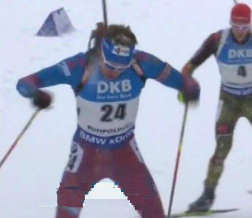 Шипулин не сумел удержать 3-е место в гонке преследования в Рупольдинге