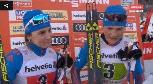 Российские лыжницы выиграли командный спринт в Тоблахе