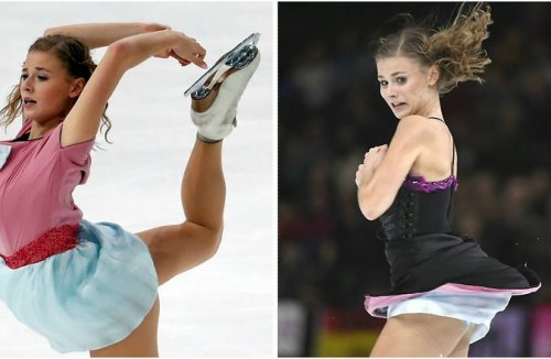 Французская фигуристка переоделась прямо на льду во время выступления на чемпионате Европы