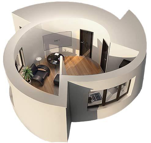 дом, «напечатанный» по технологии «3d»