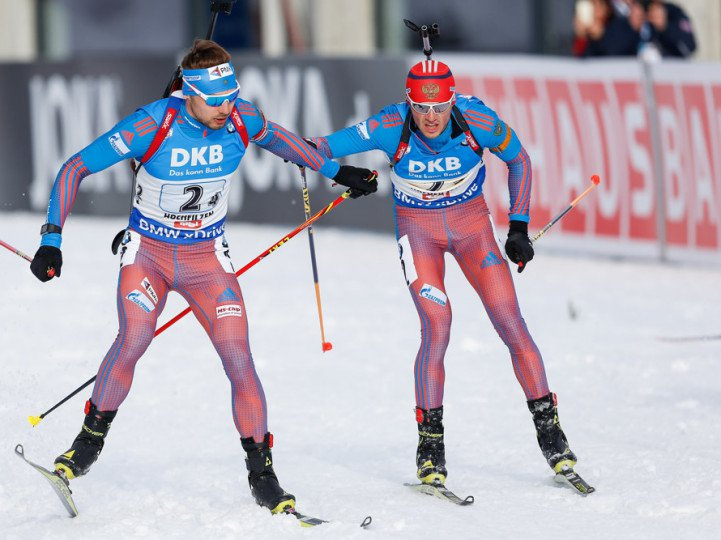 Российские биатлонисты выиграли Кубок мира вэстафете