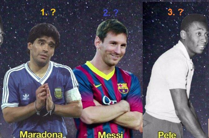 Марадона возглавил рейтинг величайших игроков всех времен поверсии FourFourTwo