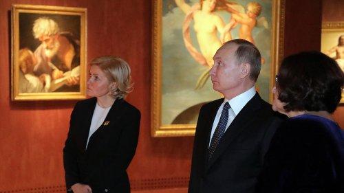 Путин посетил Третьяковку ради шедевров Ватикана и Византии